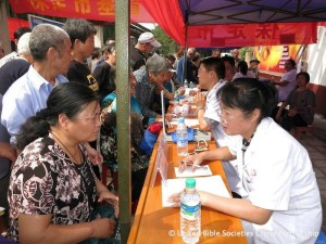 Health care from volunteers through the Bible and medical van ministry
