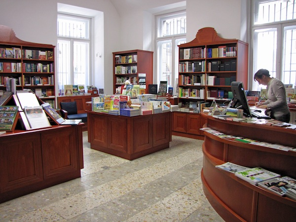 The Bible bookshop in the museum.