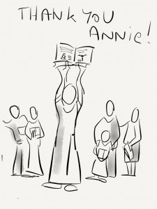 My personal thank you to Annie.