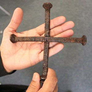 A Cross of nails - a gift I received at Easter.