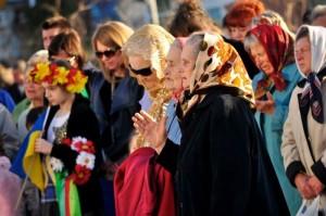 Interdenominational prayers in Nova Kakhova.