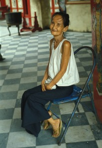 A deaf lady in China.