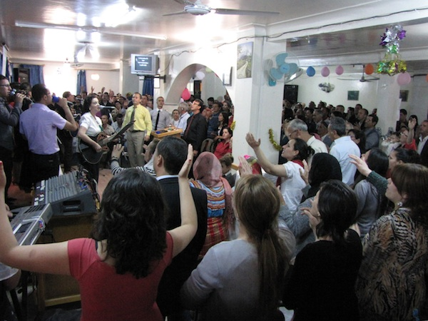 Worship in a church in Kabylie.
