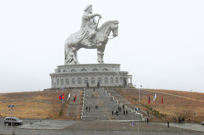 The Ghengis Khan statue complex.