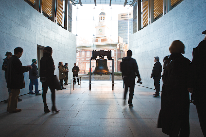 The famous Liberty Bell in Philadelphia.