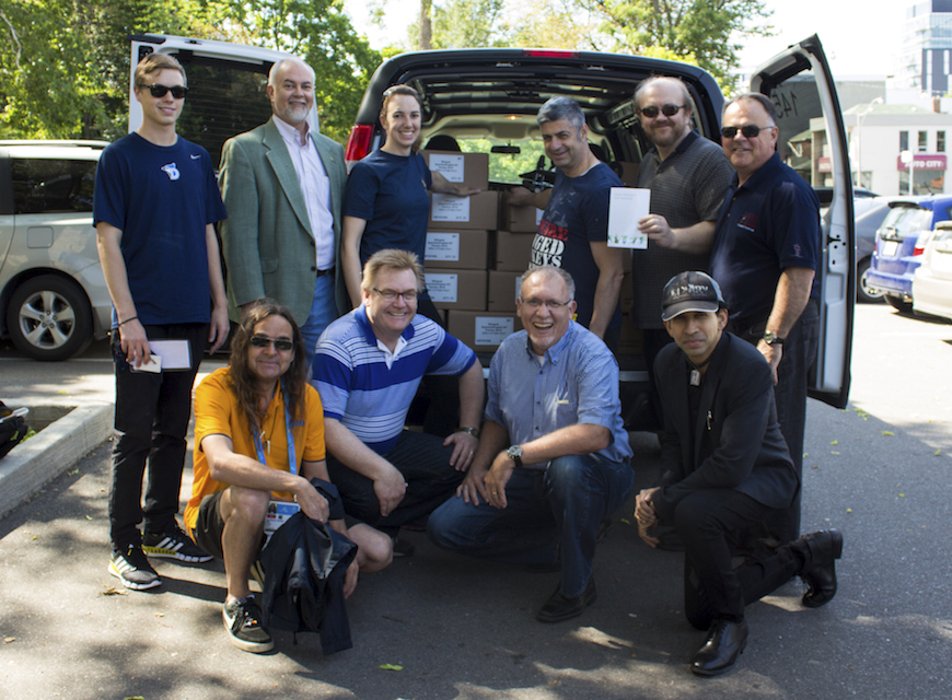 The Canadian Bible Society delivered the 6,000 Scriptures to members of the More Than Gold team in Toronto.