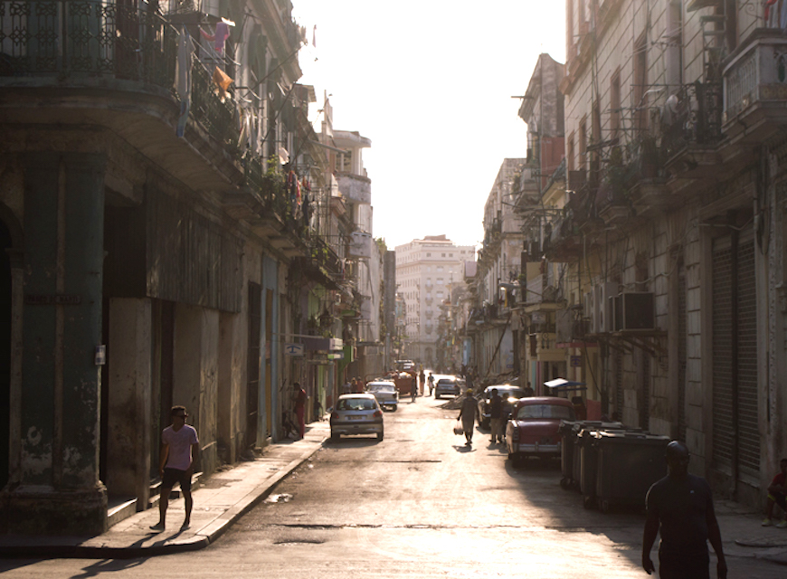 A typical scene in charming 'Old Havana'.