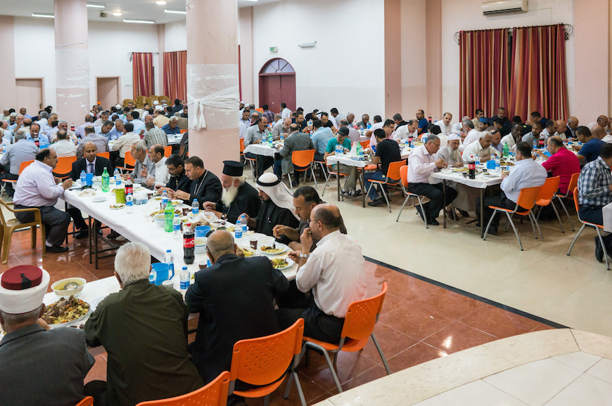 More than 500 people attended the meal, including mayors, imams, muftis and church leaders from across Jenin district.