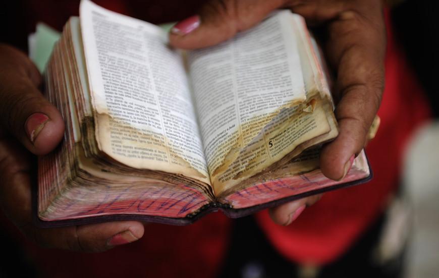 Worn Bible in Cuba