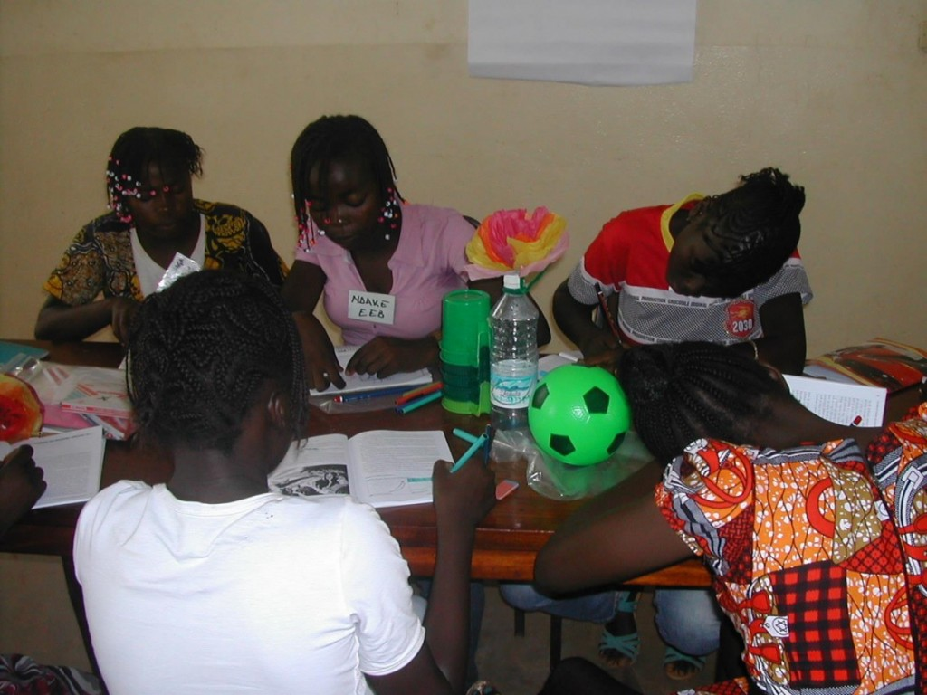 A Bible-based trauma healing session in progress in Bangui.
