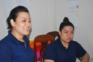 Hong (right) and Kim Anh