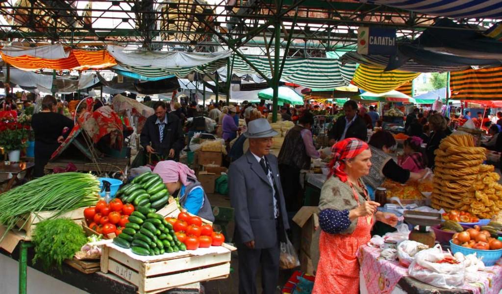 Osh Bazaar in Bishkek.