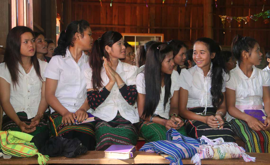 Young Bunong Christians in Cambodia. In May 2016, the very first Bunong New Testament will be published