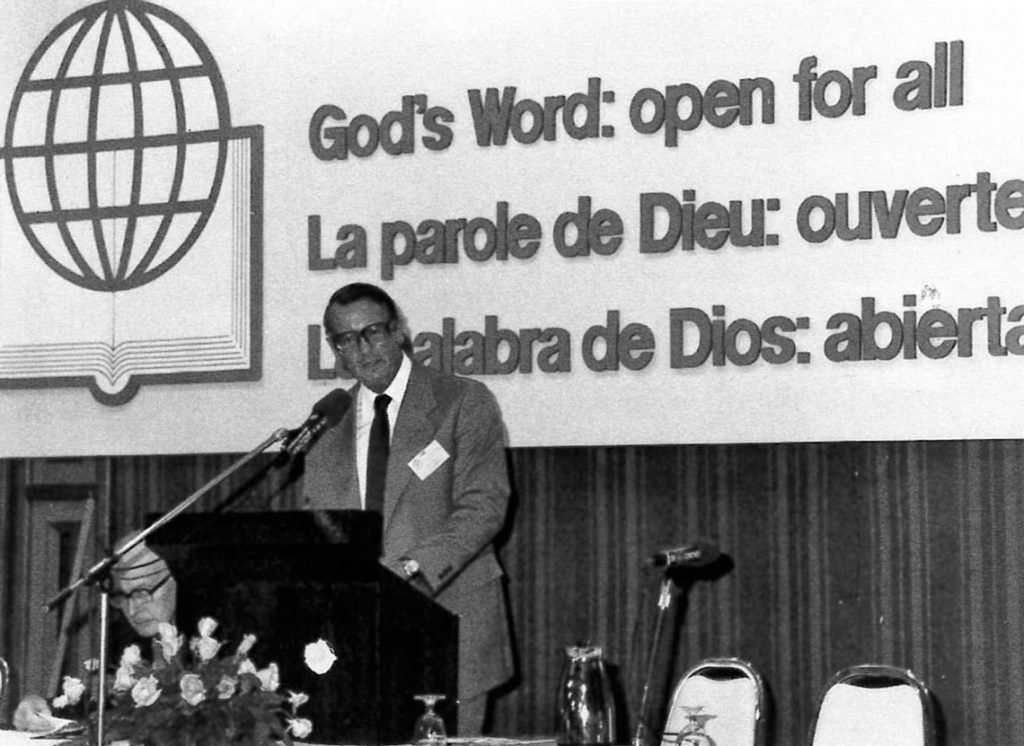 Rev. Dr. Ulrich Fick at the UBS Council meeting 1980